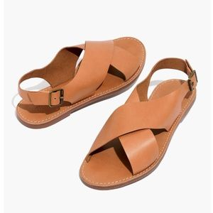 Madewell boardwalk cross over sandal 6